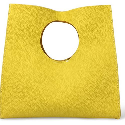 Vintage Minimalist Style Soft Pu Leather Handbag Clutch Small Tote