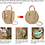 Thumbnail: Women Straw Summer Beach Bag Handwoven Round Rattan Bag Cross Body Bag Shoulder