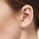 Thumbnail: Mini Triangle Slip On Huggie Cuff Earrings In Solid 14K Yellow Gold- Hoops Cuff