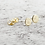 Thumbnail: Click image to open expanded view Tiny Disc Stud Earrings In 14k Gold Filled Jew
