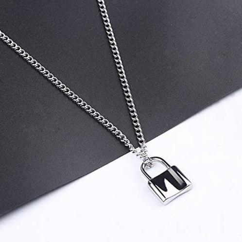 Lock Pendant Y Necklace Simple Cute