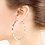 Thumbnail: Sterling Silver High Polished Twist Round Click-Top Hoop Earrings