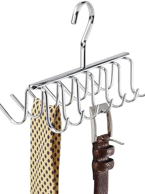 Metal Hanger, Hanging Closet Organization Storage Holder, Men's Tie