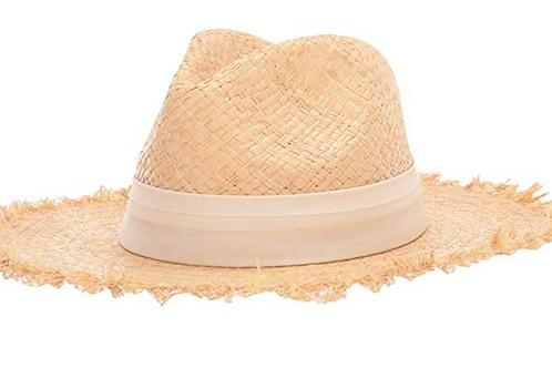 Stars Women's Trilby Wide Brim Boater Hat