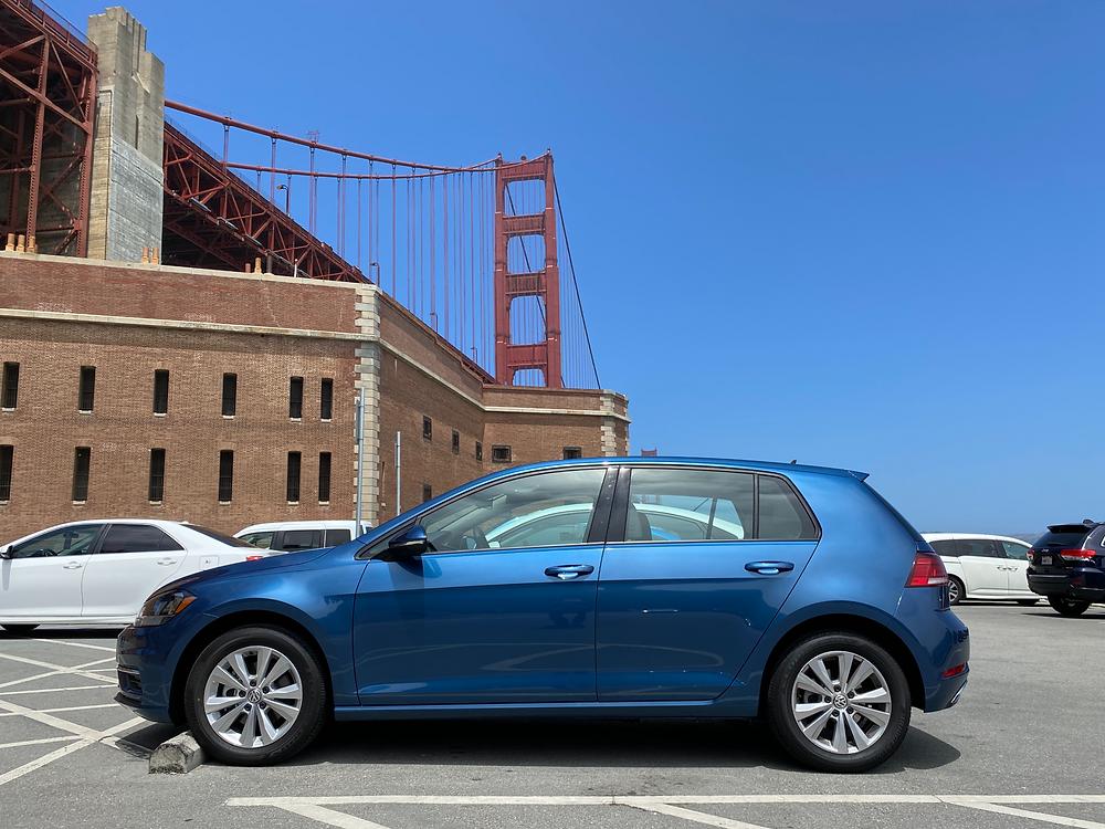 2021 Volkswagen Golf TSI side view