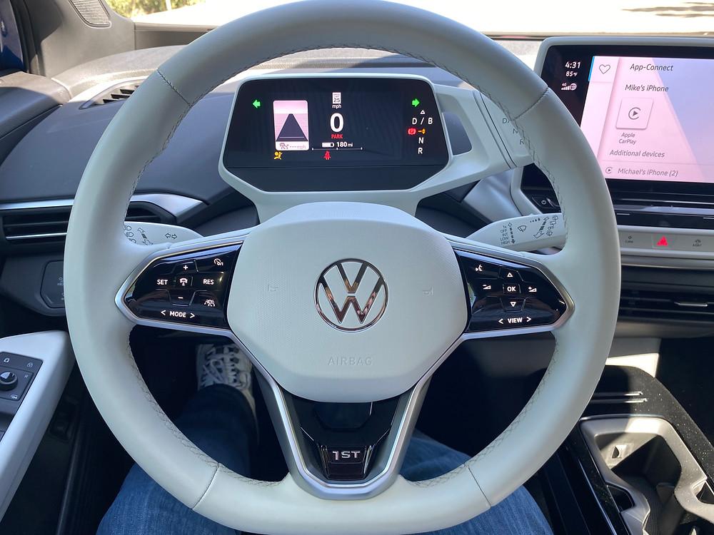 2021 Volkswagen ID.4 1st Edition steering wheel and instrument screen