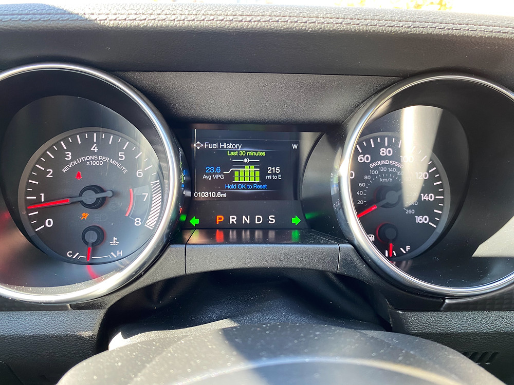 2020 Ford Mustang 2.3L High Performance Ecoboost gauge cluster