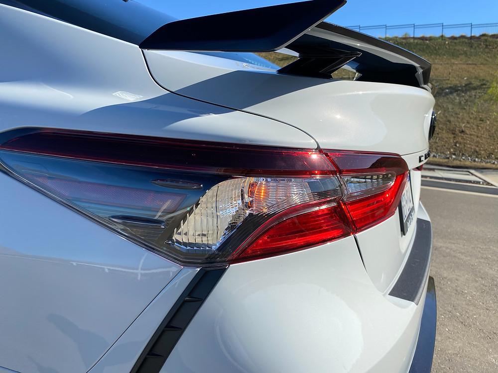 2021 Toyota Camry TRD V6 trunklid spoiler