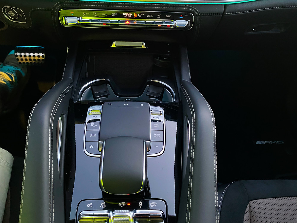 2021 Mercedes-Benz AMG GLE 53 Coupe center console
