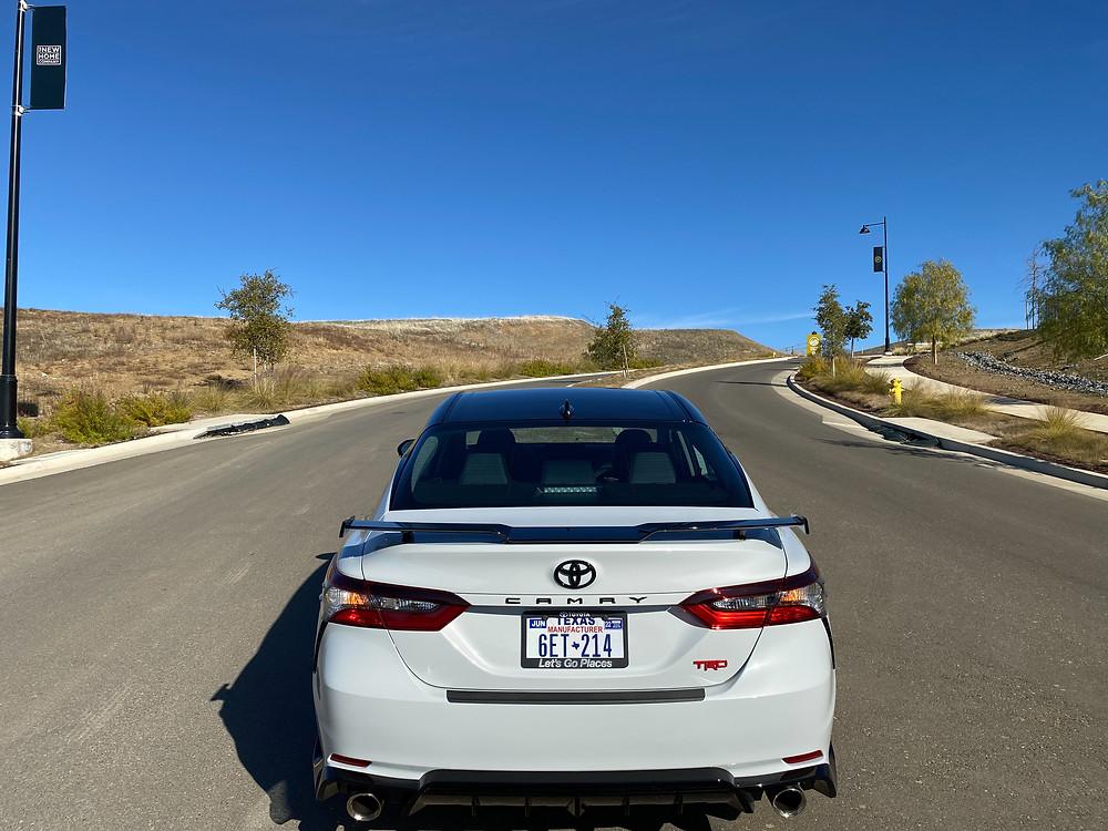 2021 Toyota Camry TRD V6 rear view