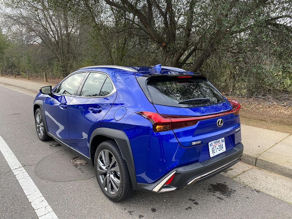 2021 Lexus UX 200 F SPORT rear 3/4 view