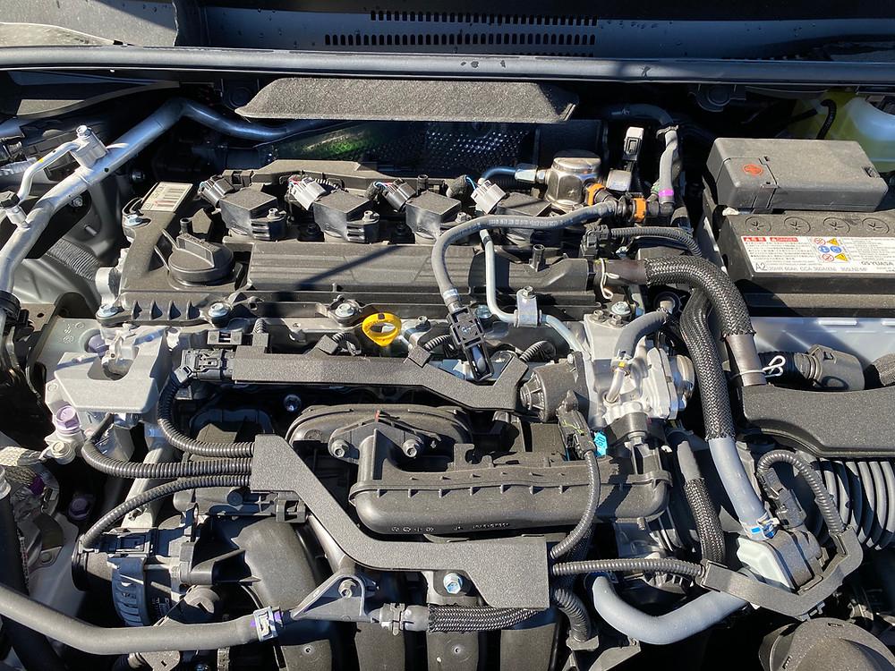 2021 Toyota Corolla Hatchback SE Nightshade engine detail