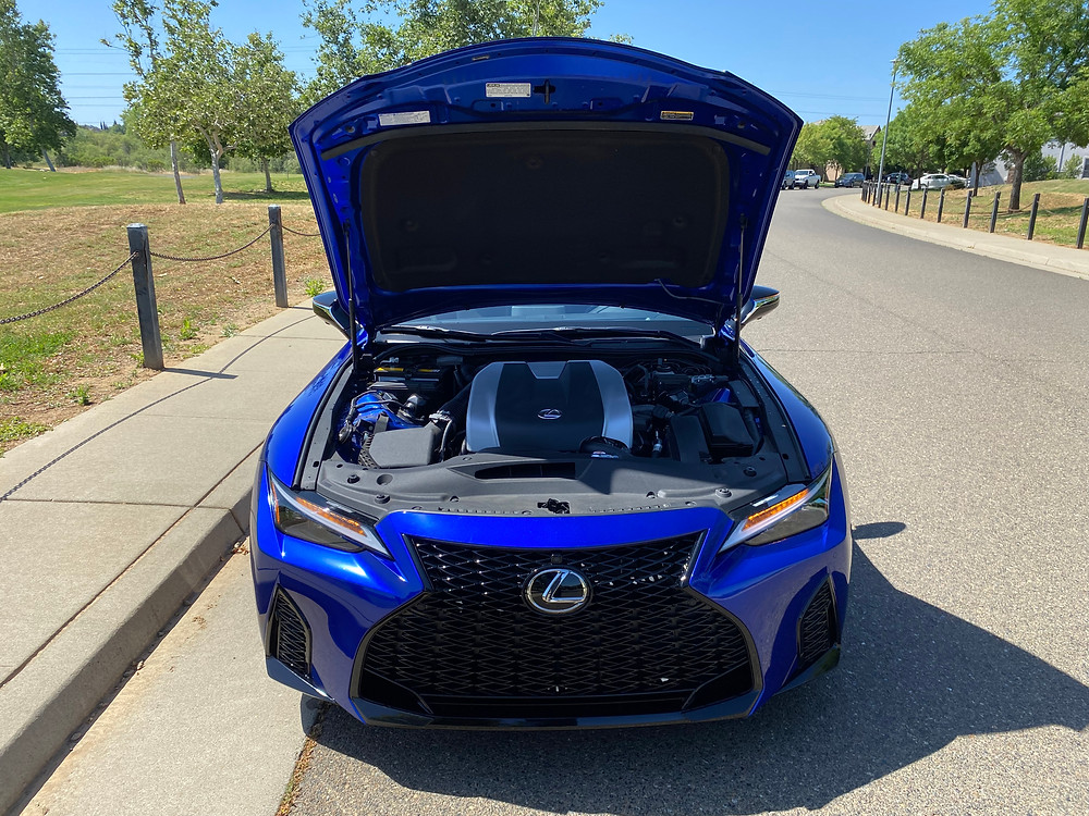 2021 Lexus IS 350 F SPORT hood up