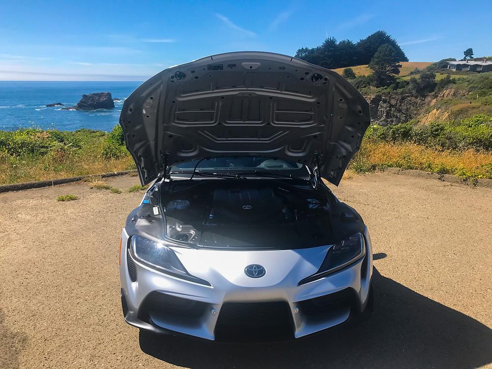 Hood up on 2020 Toyota GR Supra 3.0 Premium