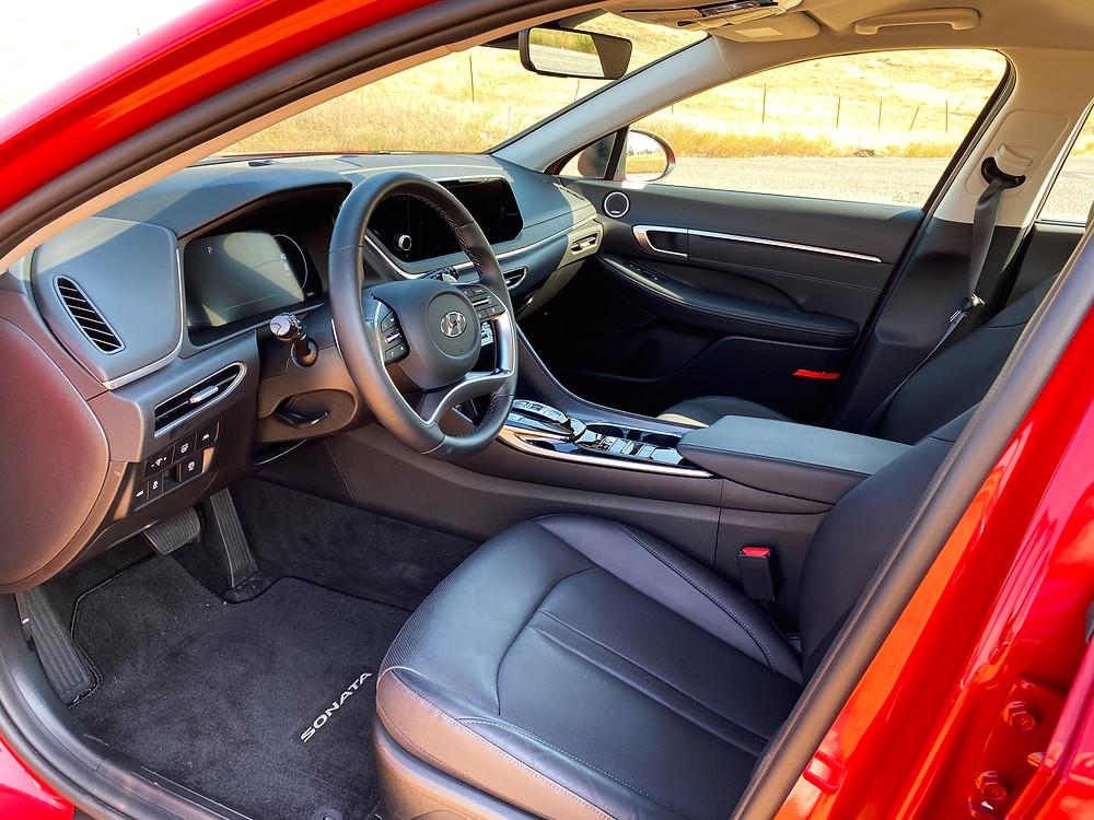 2020 Hyundai Sonata Hybrid Limited front seats