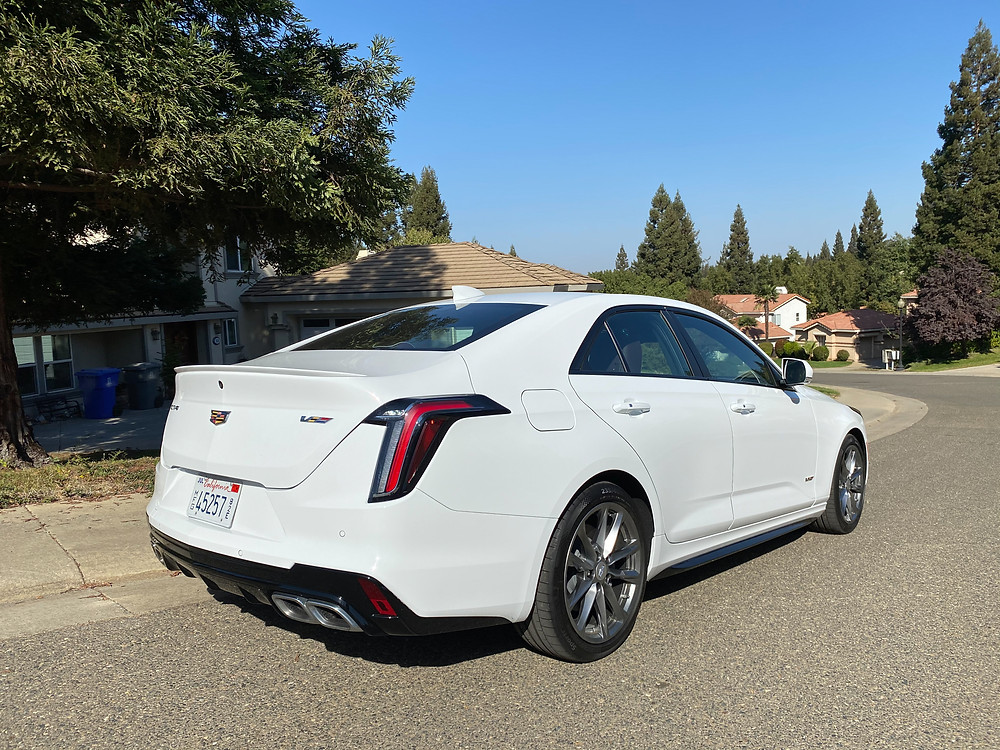 2020 Cadillac CT4 V-Series rear 3/4 view