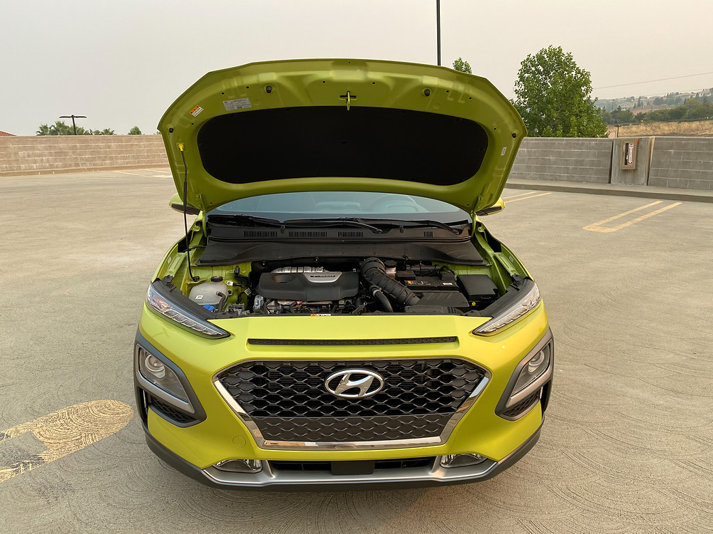 2020 Hyundai Kona Ultimate FWD hood up