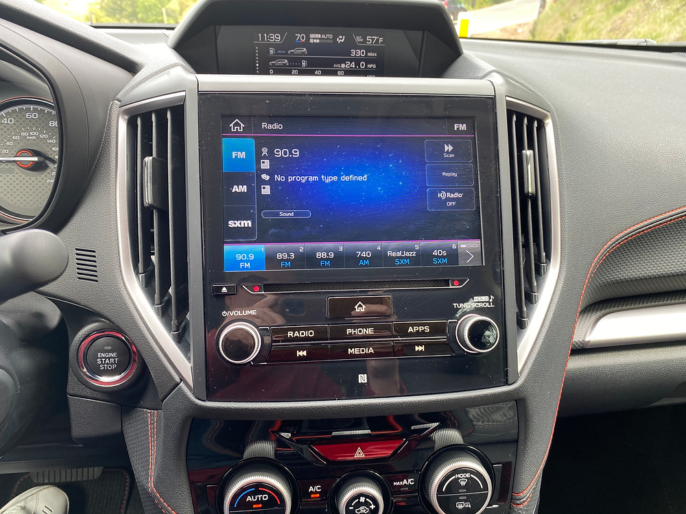 2021 Subaru Forester Sport infotainment and HVAC