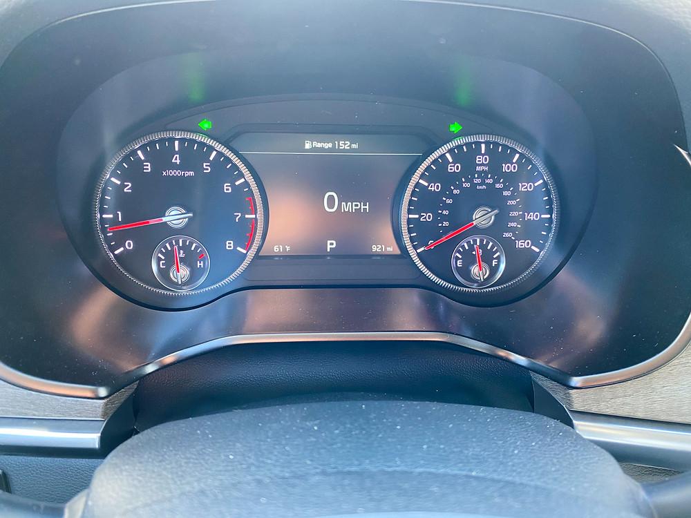 2021 Kia Telluride SX V6 AWD gauge cluster