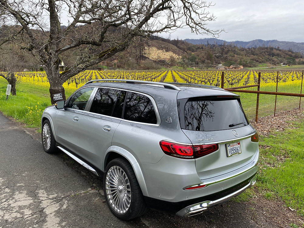 2021 Mercedes-Maybach GLS 600 4MATIC rear 3/4 view