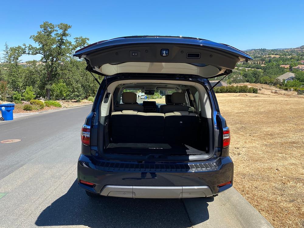 2021 Nissan Armada Platinum AWD rear liftgate open