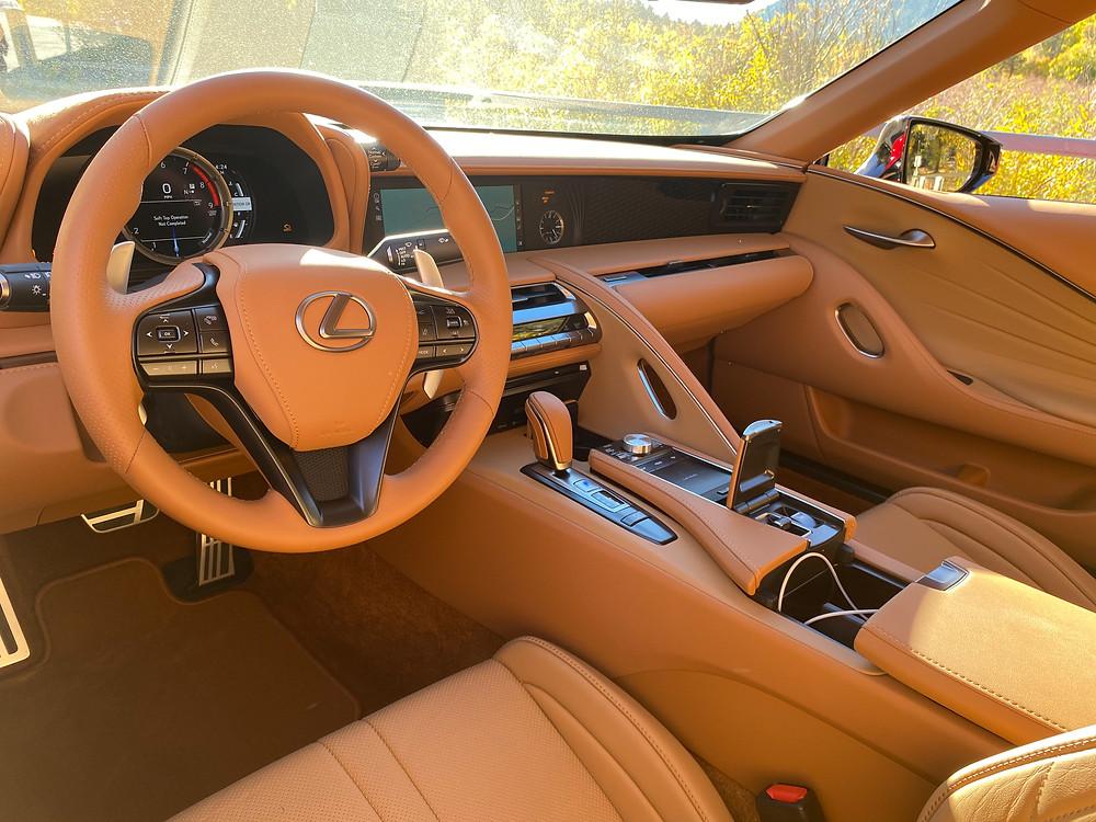 2021 Lexus LC 500 Convertible instrument panel