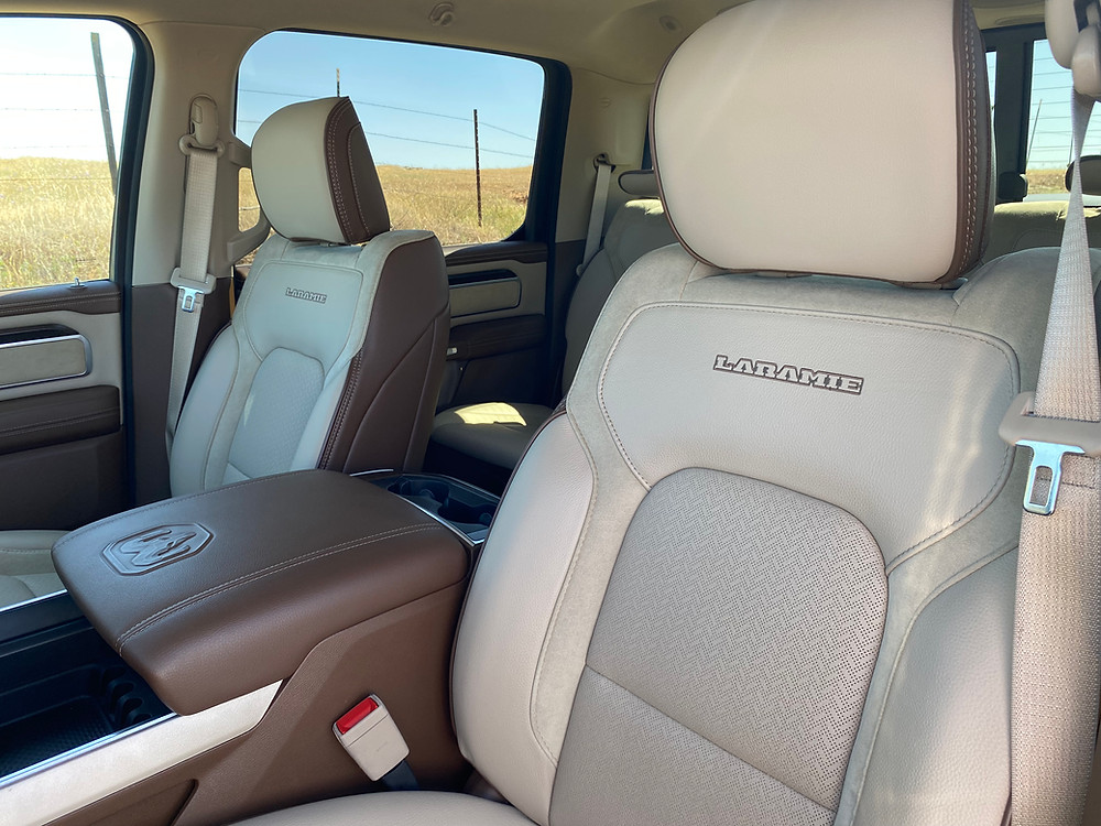2021 RAM 1500 Laramie Crew Cab 4X4 front seat detail