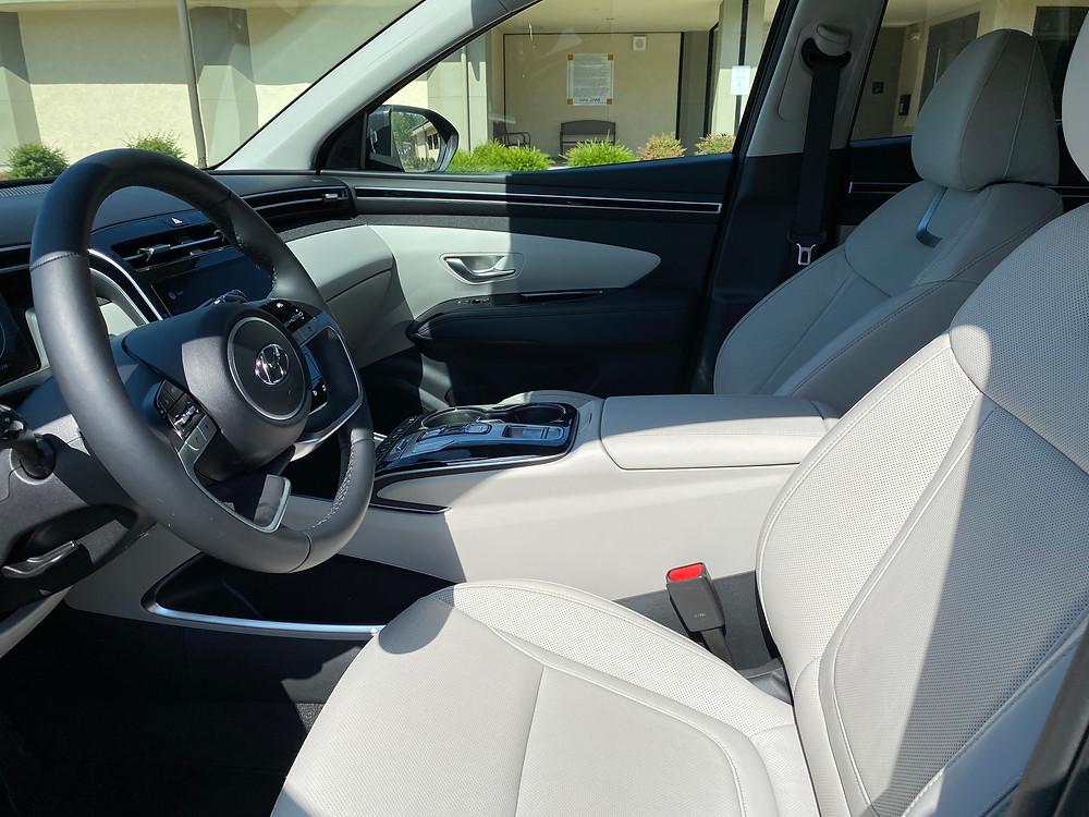 2021 Hyundai Tucson Limited Hybrid AWD front seats