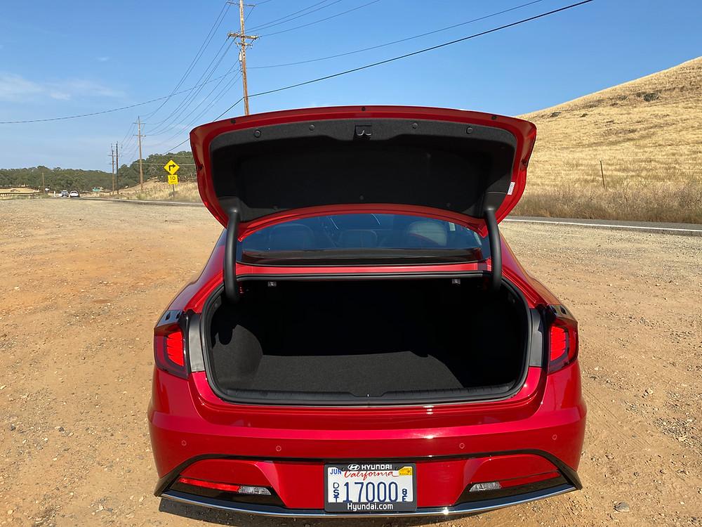 2020 Hyundai Sonata Hybrid Limited trunk open