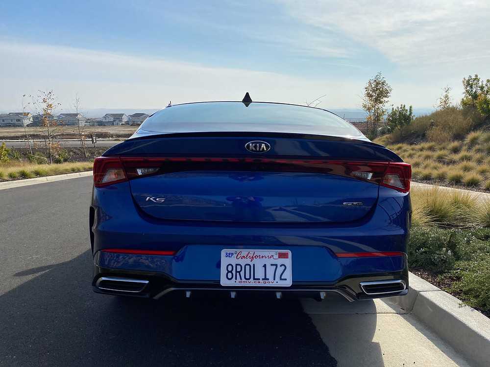 2021 Kia K5 GT-Line rear view