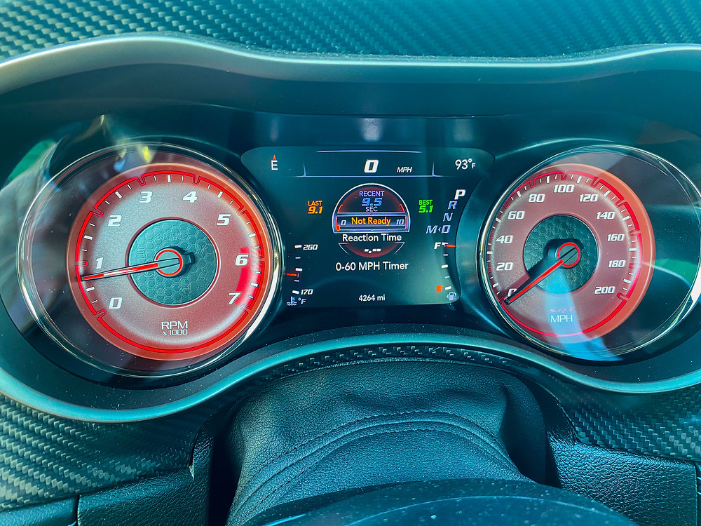 2020 Dodge Charger SRT Hellcat gauge cluster