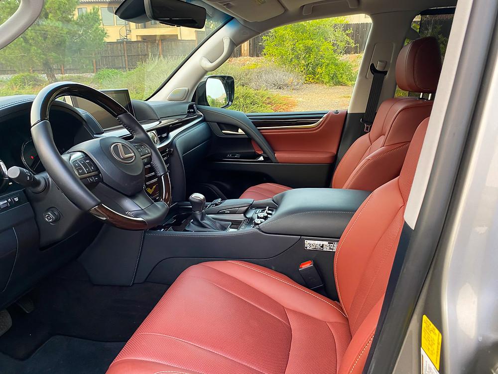 2020 Lexus LX570 front seats