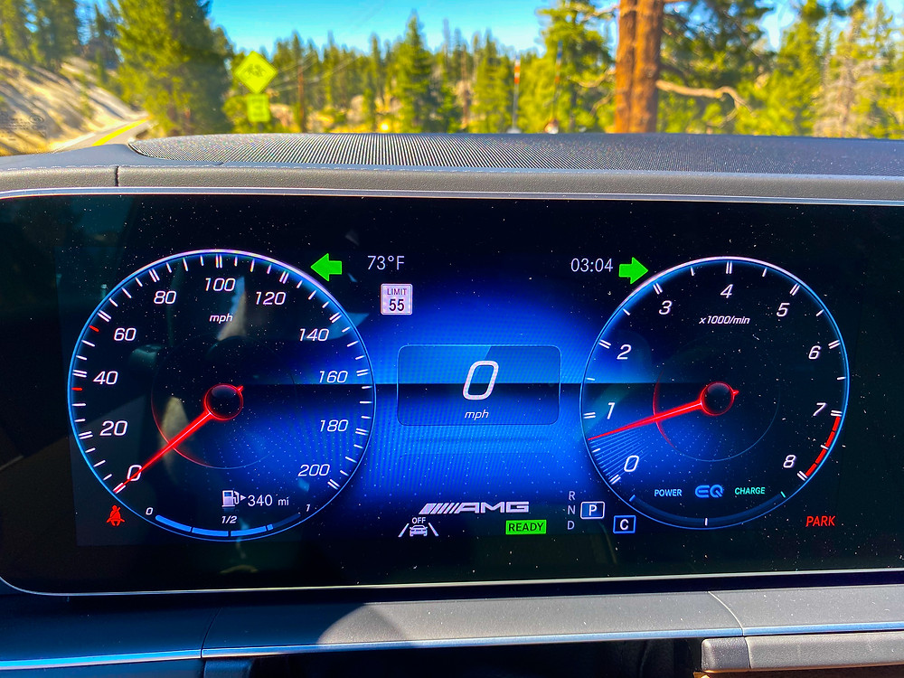 2021 Mercedes-AMG GLS 63 digital instrument cluster