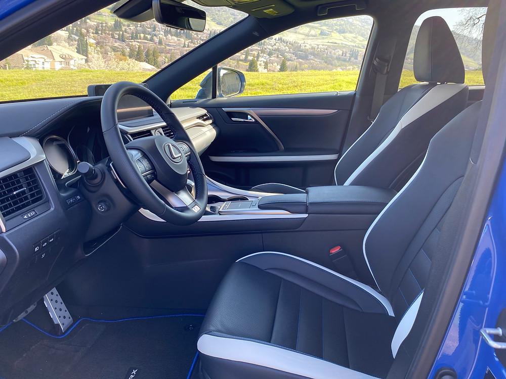 2021 Lexus RX 350 F SPORT Black Line front seats