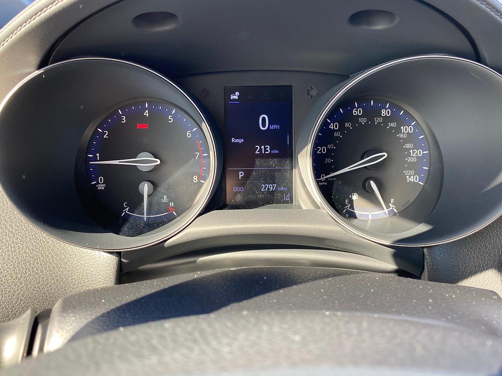2021 Toyota C-HR Nightshade Edition gauge cluster