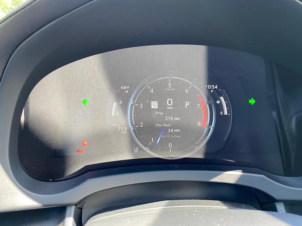 2021 Lexus IS 350 F SPORT gauge cluster