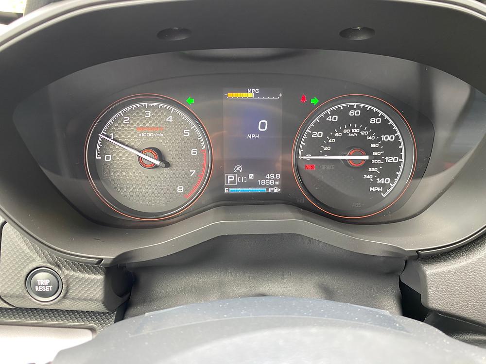 2021 Subaru Forester Sport gauge cluster