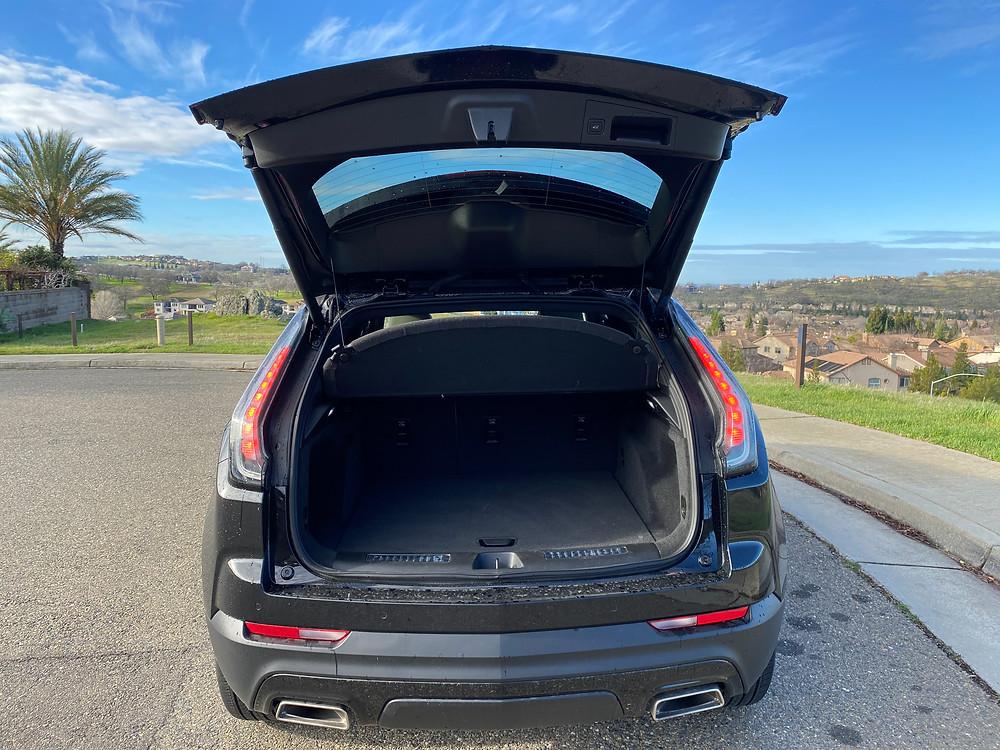 2021 Cadillac XT4 rear liftgate open