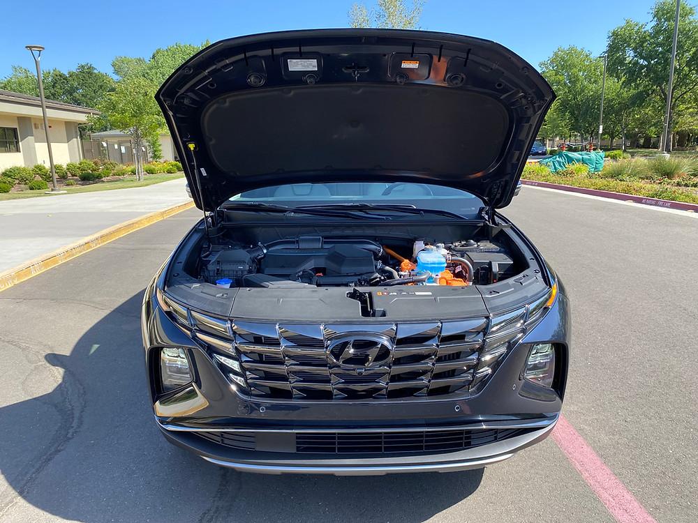 2021 Hyundai Tucson Limited Hybrid AWD hood up