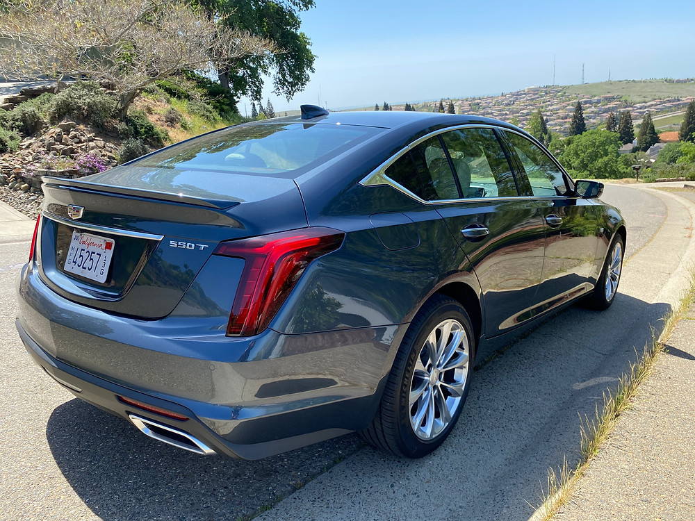 2021 Cadillac CT5 Premium Luxury rear 3/4 view