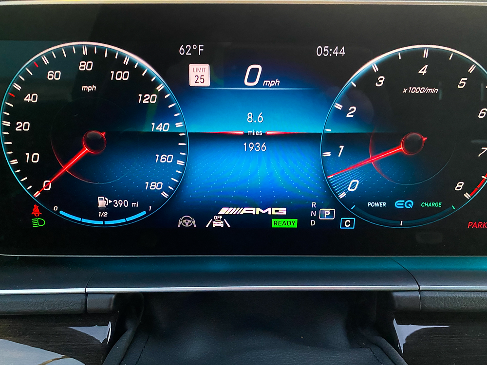2021 Mercedes-Benz AMG GLE 53 Coupe gauge cluster