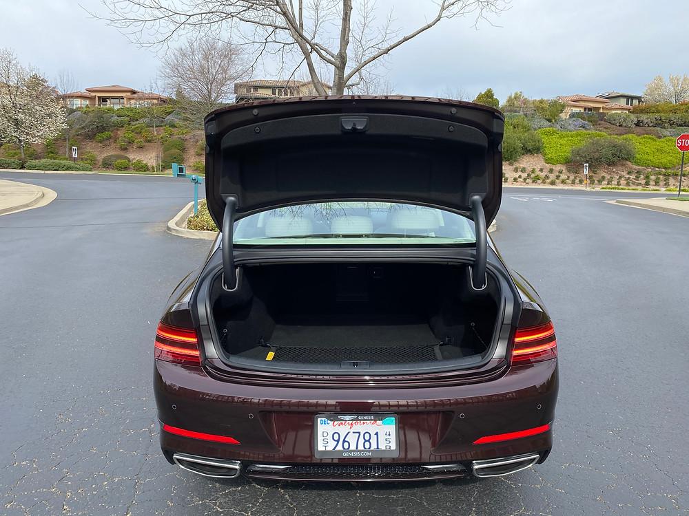 2021 Genesis G80 2.5T Standard trunk open