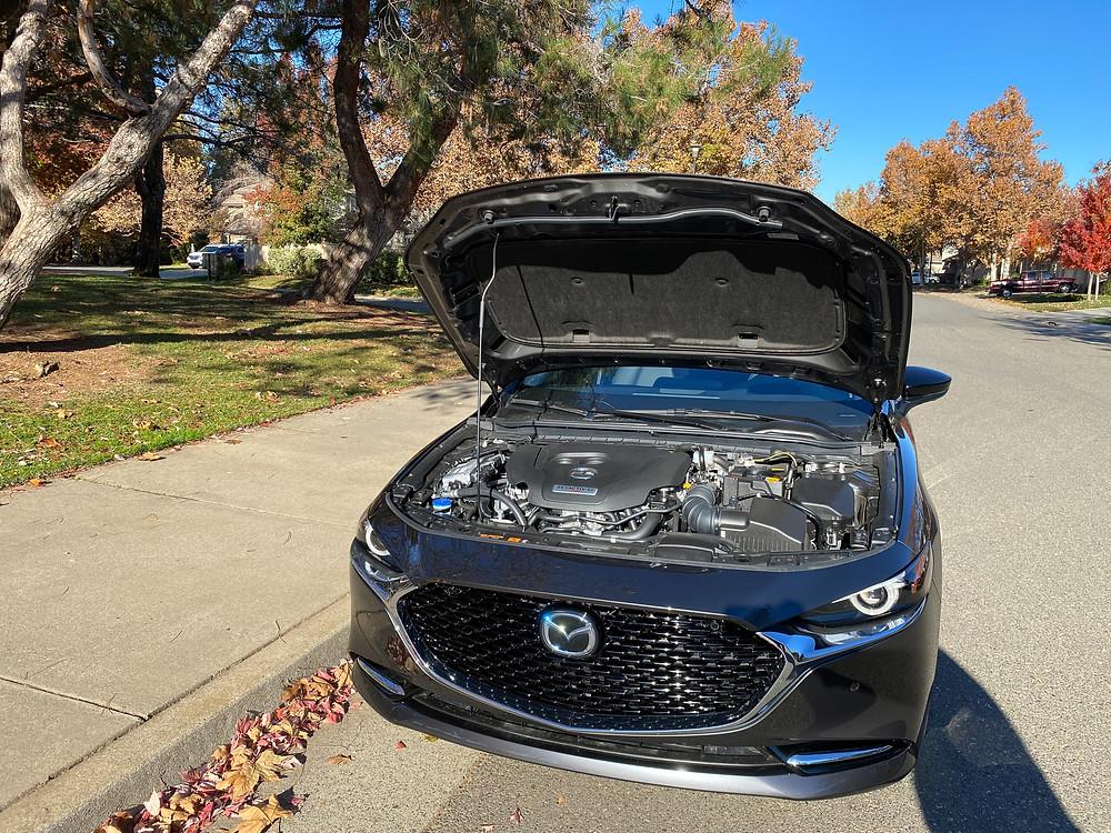 2021 Mazda 3 2.5 Turbo AWD hood up