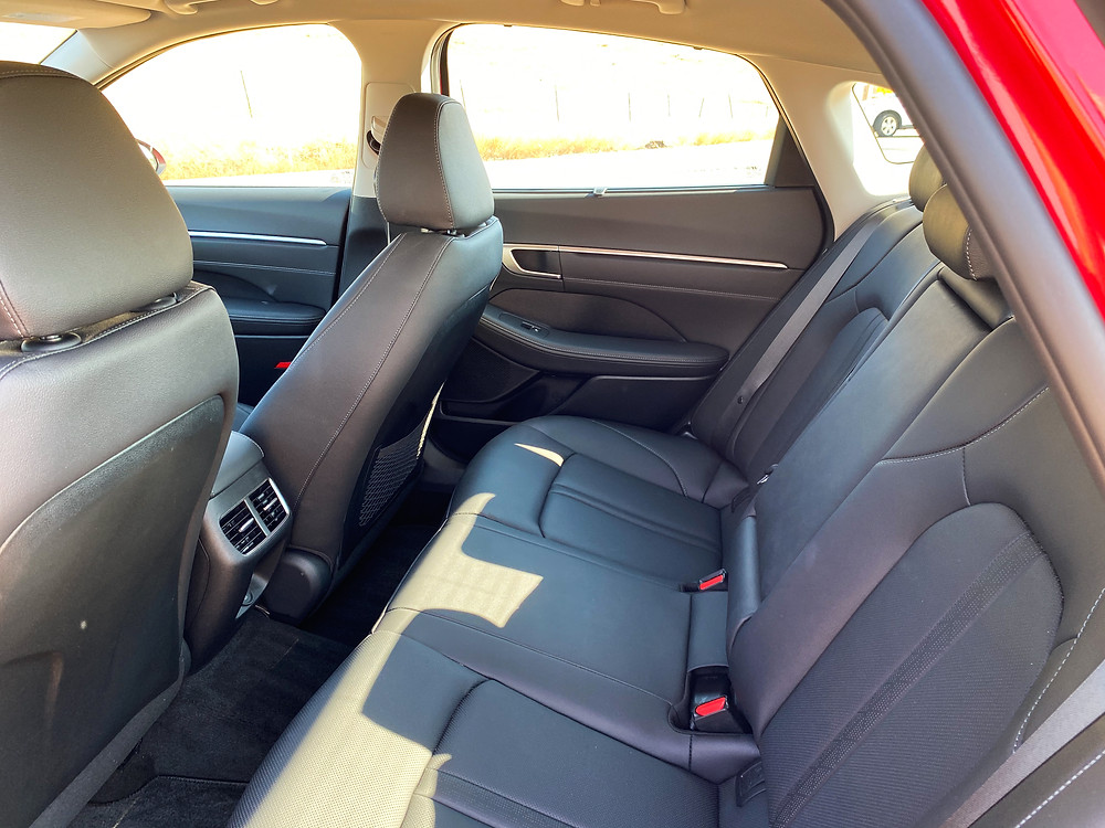 2020 Hyundai Sonata Hybrid Limited rear seat