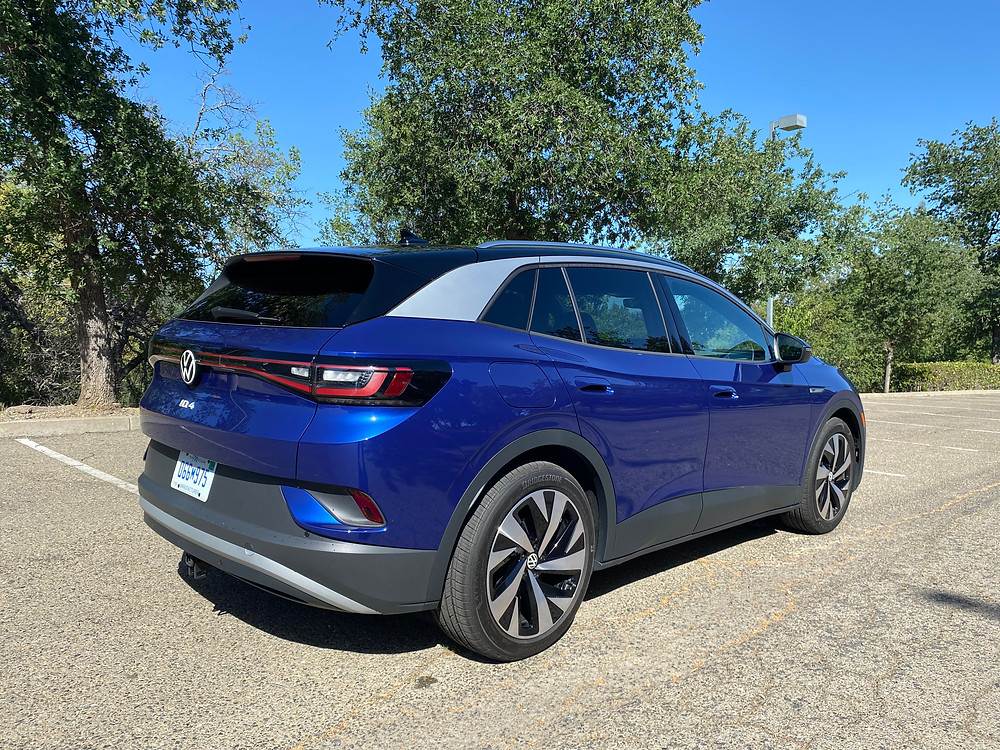 2021 Volkswagen ID.4 1st Edition rear 3/4 view