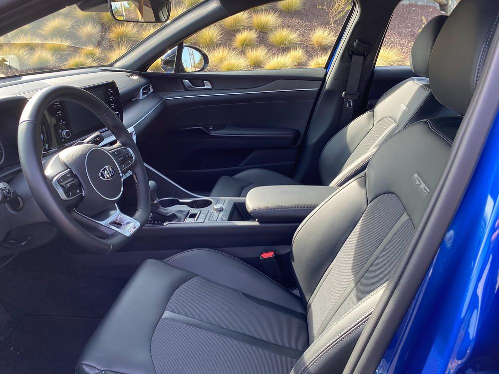 2021 Kia K5 GT-Line front seats