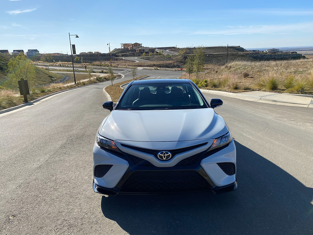 2021 Toyota Camry TRD V6 front view