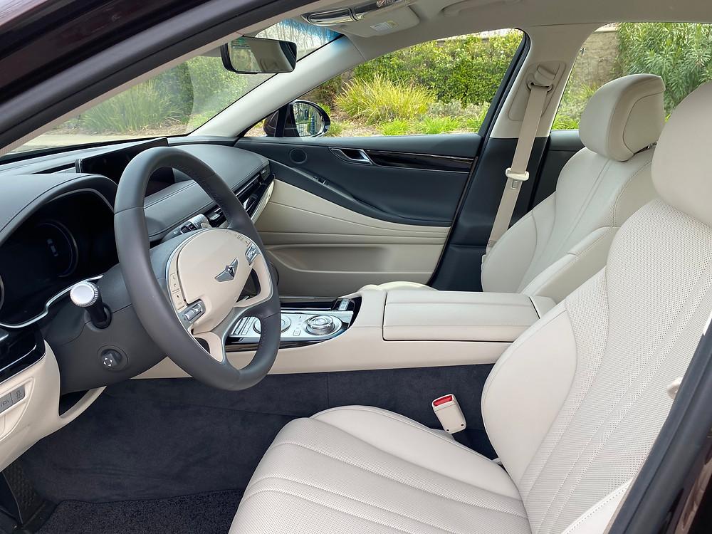 2021 Genesis G80 2.5T Standard front seats