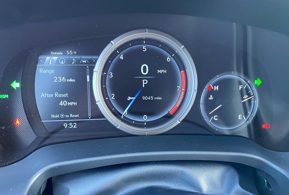 2021 Lexus RX 350 F SPORT Black Line gauge cluster