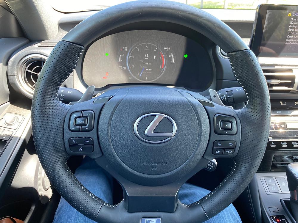 2021 Lexus IS 350 F SPORT steering wheel and gauge cluster
